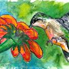 Art: Hummingbird (SOLD) by Artist Laura Ross