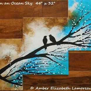 Art: Once Upon an Ocean Sky (sold) by Artist Amber Elizabeth Lamoreaux