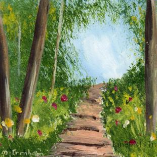 Art: Spring Path ACEO by Artist Janet M Graham