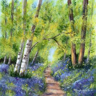 Art: Bluebell Woods 2 by Artist Janet M Graham