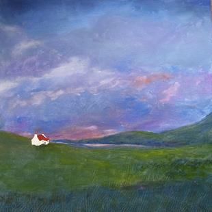 Art: Cottage in the Hills (Sold) by Artist Fran Caldwell