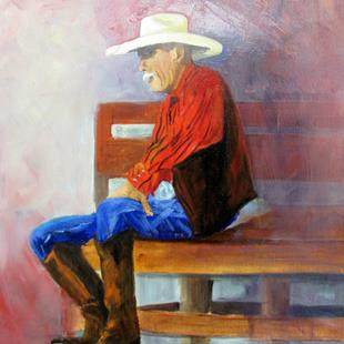 Art: Joe From Hico Texas by Artist Barbara Haviland