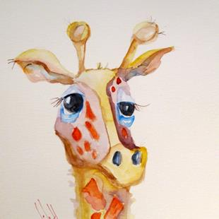 Art: Giraffe by Artist Delilah Smith