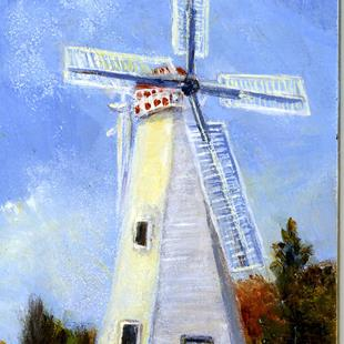 Art: Old Grist Mill by Artist Shirley James