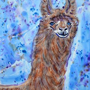 Art: Llama in Colors 1 by Artist Melinda Dalke