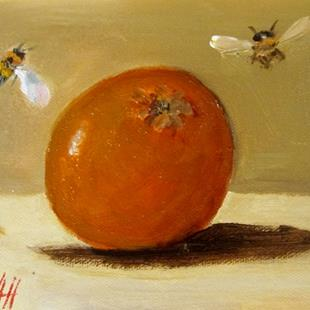 Art: Orange and Bees by Artist Delilah Smith