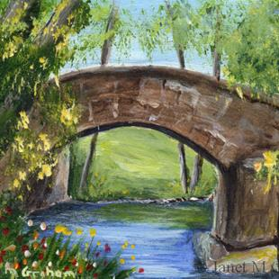 Art: Stone Bridge ACEO by Artist Janet M Graham