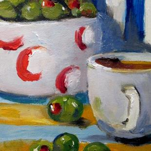 Art: Olives in a Still Life by Artist Delilah Smith