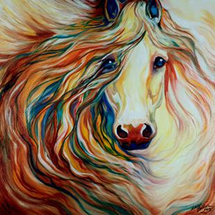 Art: FRIENDSHIP EQUINE ABSTRACT by Artist Marcia Baldwin
