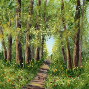 Art: Woodland Walk by Artist Janet M Graham