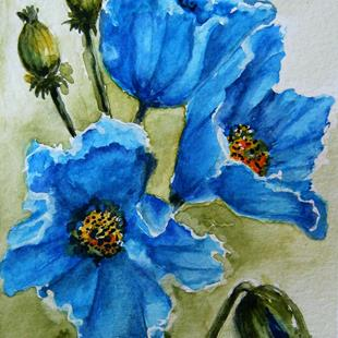 Art: Himalayan Blue Poppies - sold by Artist Bonnie Pankhurst
