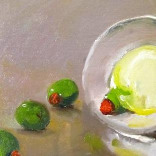 Art: Martini Olives by Artist Delilah Smith