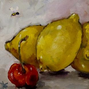 Art: Lemons and Cherry-sold by Artist Delilah Smith
