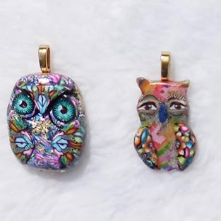 Art: Baby Owl Bead Charms #1268 by Artist Ke Robinson