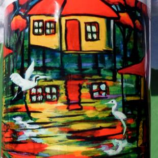 Art: Swamp Houses Mug Gift  #0384 by Artist Ke Robinson