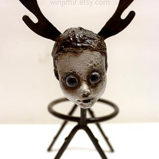 Art: Deer Child by Artist Windi Rosson