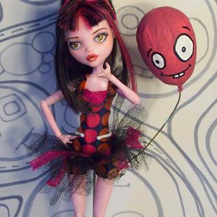 Art: Georgine & Rufus Monster High Repaint by Artist Emily J White
