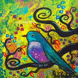 Art: Bird V~Golden Sunrise by Artist Juli Cady Ryan
