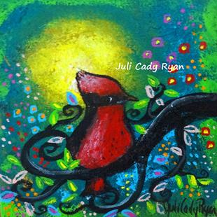 Art: Bird II~Early Riser by Artist Juli Cady Ryan