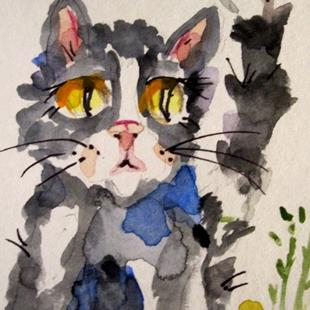 Art: Black and White Cats by Artist Delilah Smith