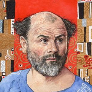 Art: Gustav Klimt by Artist Mark Satchwill