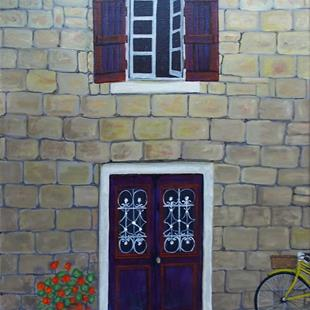 Art: The French Village House by Artist Fran Caldwell