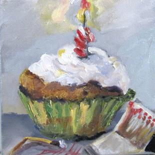 Art: Birthday Cupcake by Artist Delilah Smith