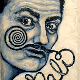 Art: Dali's 'Stache by Artist Patience
