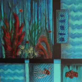 Art: Ocean Bottom by Artist Vicky Helms