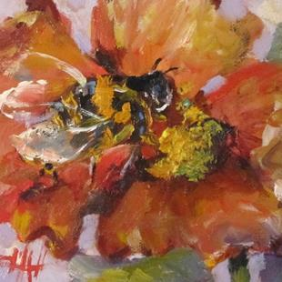 Art: Bee Flower by Artist Delilah Smith