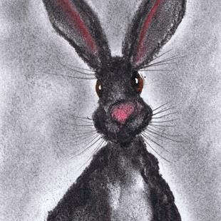 Art: DARK HARE h3026 by Artist Dawn Barker