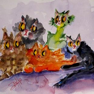 Art: Kitty Pile by Artist Delilah Smith
