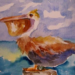 Art: Pelican by Artist Delilah Smith