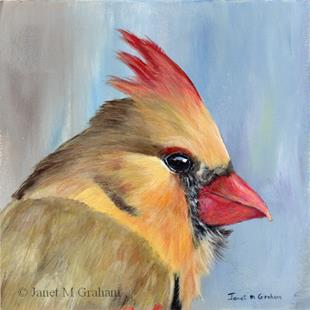 Art: Northern Cardinal (Female) by Artist Janet M Graham