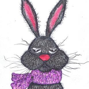 Art: HAIRY HARE h3032 by Artist Dawn Barker