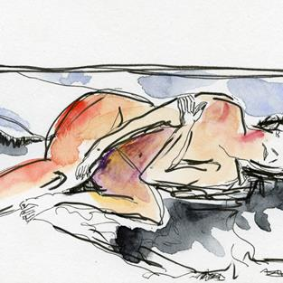 Art: Resting Woman by Artist Gabriele M.