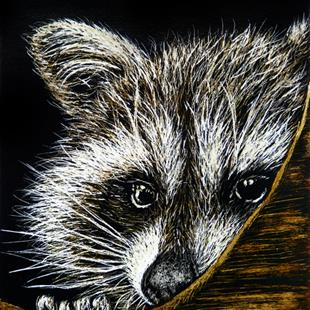 Art: Bashful  (SOLD) by Artist Monique Morin Matson