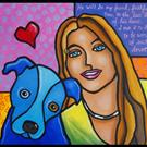 Art: Fido and Me by Artist Lindi Levison
