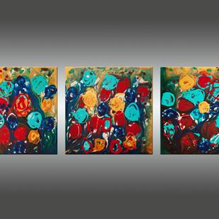 Art: Abstract Flowers 3 by Artist Hilary Winfield