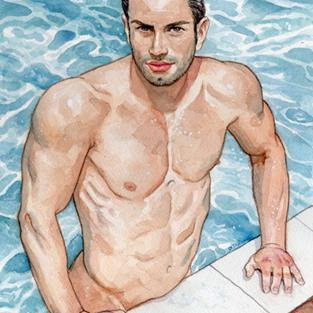 Art: Pool Boy by Artist Mark Satchwill