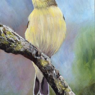 Art: Willow Warbler by Artist Janet M Graham
