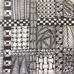 Art: Zentangle Inspired by Artist Ulrike 'Ricky' Martin