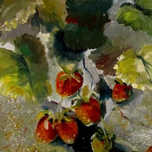 Art: Wild Strawberries by Artist Delilah Smith