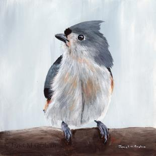Art: Tufted Titmouse No 3 by Artist Janet M Graham