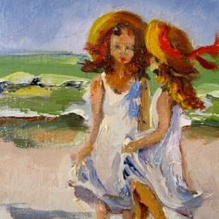 Art: Girls on the Beach by Artist Delilah Smith