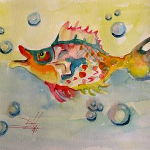 Art: Blowing Bubbles by Artist Delilah Smith