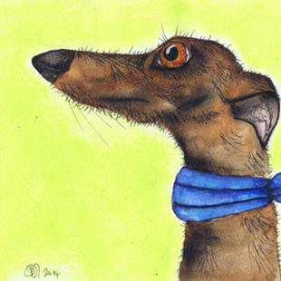 Art: GREYHOUND g259 by Artist Dawn Barker
