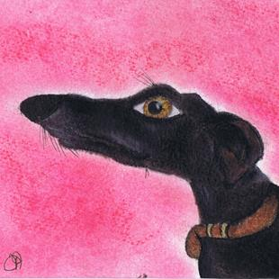 Art: GREYHOUND g710 by Artist Dawn Barker