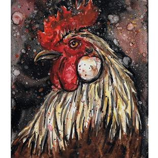 Art: Rooster in Light by Artist Melinda Dalke