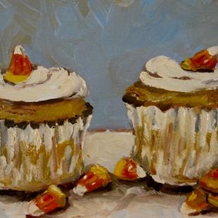 Art: Cupcakes and Candy Corn by Artist Delilah Smith
